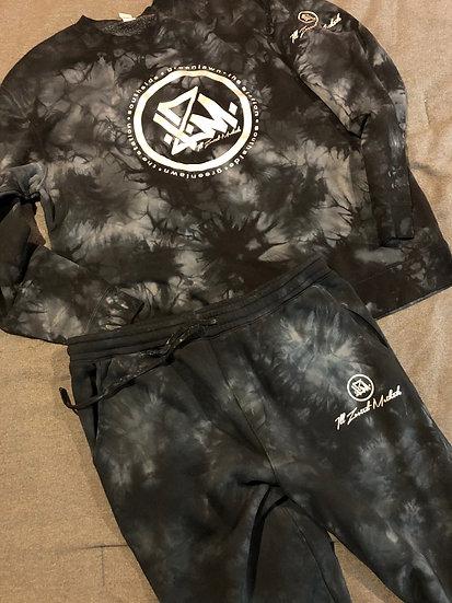 Black Tie Dyed I.Z.M Sweatsuit