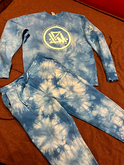 Aqua Blue Tye Dyed I.Z.M. Sweatsuit