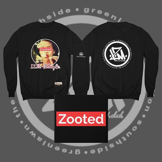 Black I.Z.M. Zooted RiRi Crew Neck Sweat Shirt