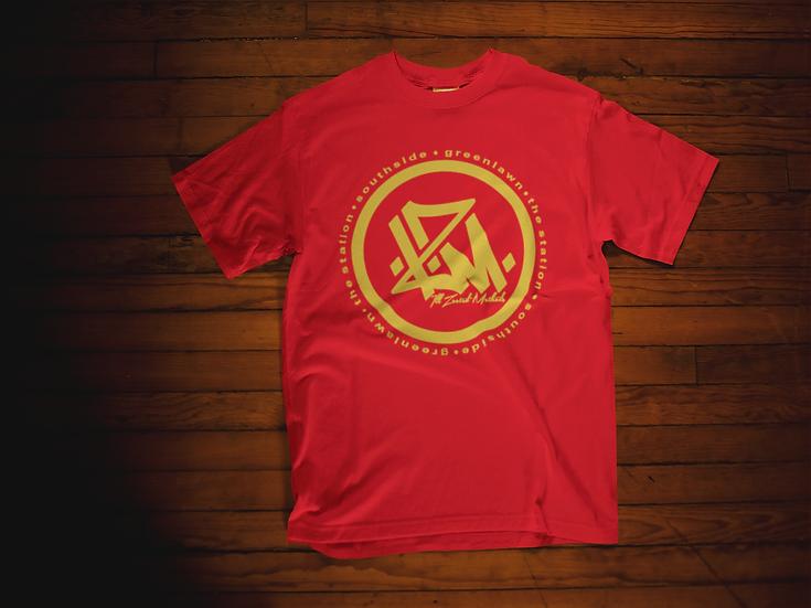 Red/Metallic Gold Champion I.Z.M. T Shirt