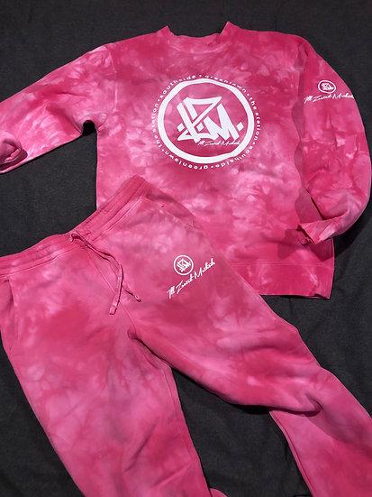 Pink Tie Dyed I.Z.M. Hoodie