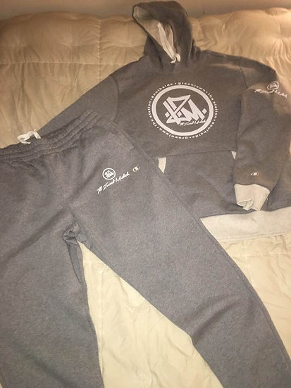 Champion-I.Z.M. Sweatsuit (Grey x Oxford)