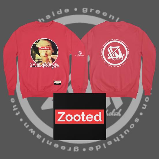 Red I.Z.M. Zooted RiRi Crew Neck Sweat Shirt