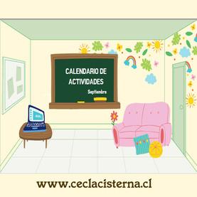 Actividades educativas online septiembre.
