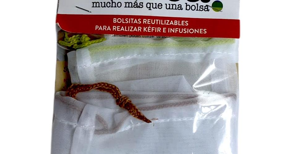 BOLSAS MINI P/ KEFIR E INFUSIONES x2 unidades