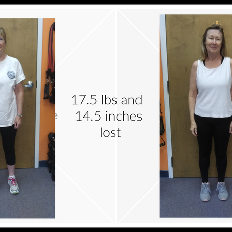 Deann is celebrating results from her hard work!