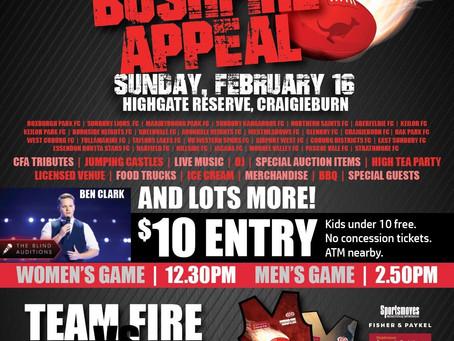 EDFL Bushfire Appeal A Huge Success!
