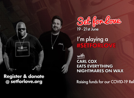 Fundraising performance alongside Carl Cox!