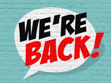 We're Back! Now Taking Bookings Once Again!