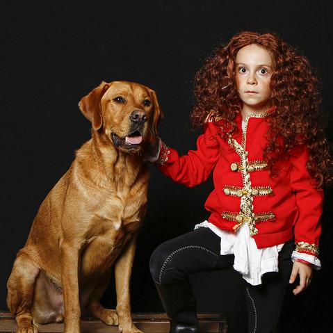 Enfant & chien cirque