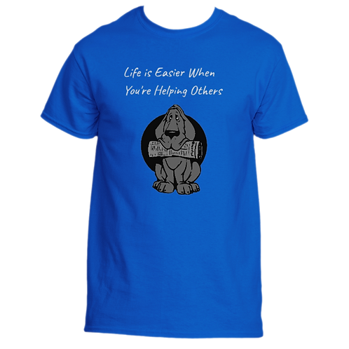 Men's T-Shirt - Life is Easier When You're Helping Others