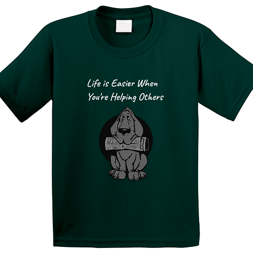 Kid's T-Shirt - Life is Easier When You're Helping Others