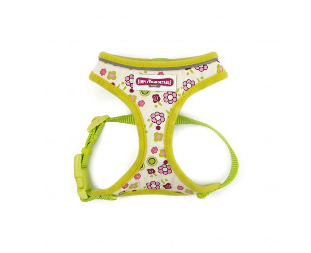 Lime Flowers Mesh Harness