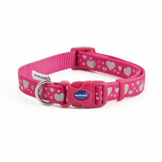Pink Hearts Reflective Collar