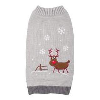 Grey Reindeer Xmas Jumper