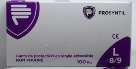 Gants de Protection Prosyntil Vinyle