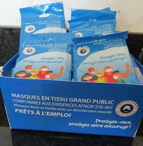 Masque Tissu Afnor DGA / 50 lavages / TVA 5.5%