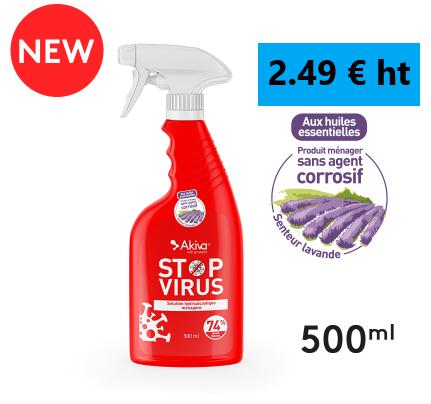 Fongicide Nettoyant Stop Virus / 2.49 € / TVA 5.5%