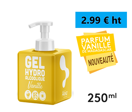 Gel Hydro 250ml / 3.49 € / Amande/Fruits Rouges/Vanille / TVA 5.5%