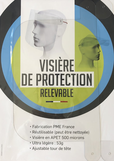 Visière de protection relevable made in France