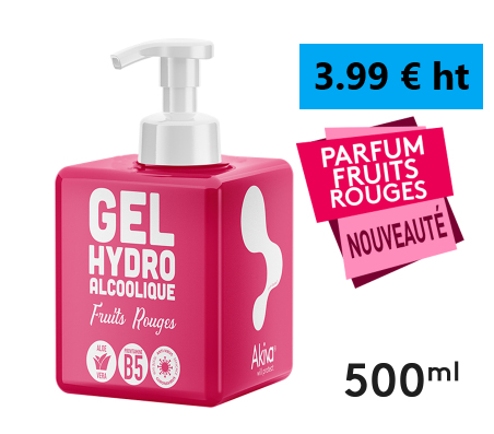Gel Hydro 500ml / 4.49€ / Amande/Fruits Rouges/Vanille TVA 5.5%