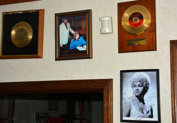 Wall at FAME Studios - see Mustang Sally Gold Record - OR