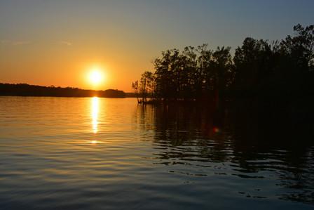 Lake Ouachita sunset