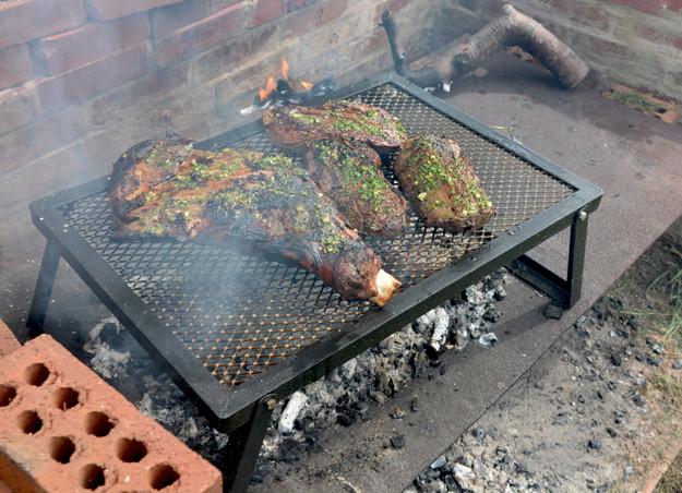 venison boar parrilla grill Uruguayan-Style chimichurri