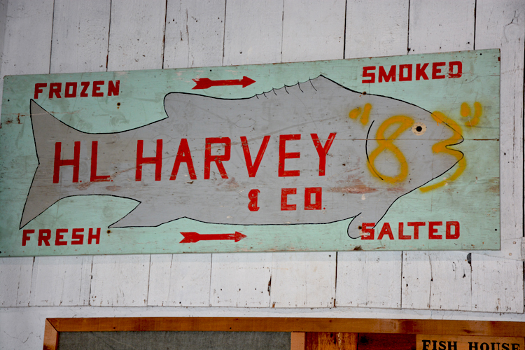 Upper Bay Museum - Harvey Seafood Sign