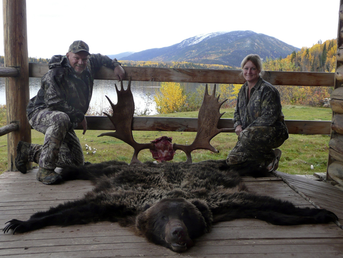 Elizabeth and Tim Dilts moose and bear