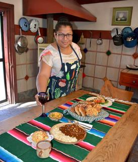 OR - Rosyy Pulido with her signature wild turkey mole poblano