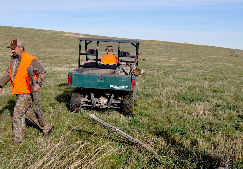 Montana - Hanus' deer - fortunately a UTV was available nearby