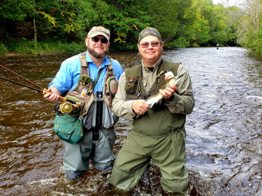 salmon fly fishing Michigan Upper Peninsula