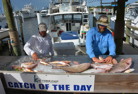 Bottom fishing trip with King Fisher Fleet yields nice fillets