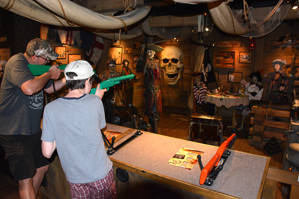 Pirate shooting gallery at Ripley's