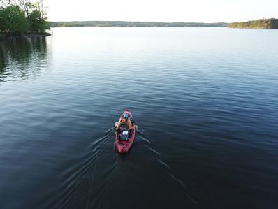 Lake Ouachita kayak fishing - 2
