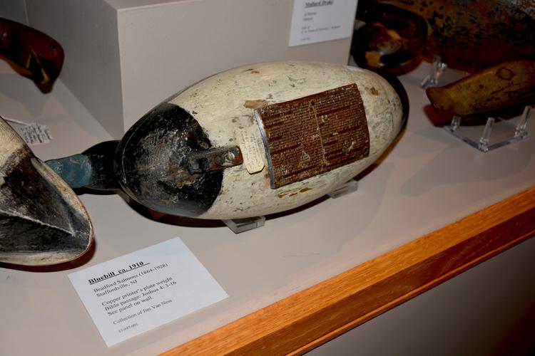 Ward Museum-Decoy Bottoms - Bible passage decoy weight