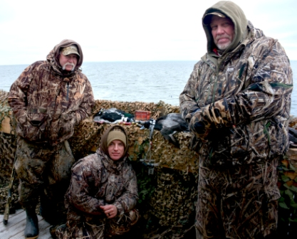 Scott Richards - James - and Chuck O'Bier with a few ducks from the start of the morning