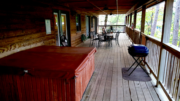 Outdoors Rambler - So much fishing no time to relax in the cabin's hot tub