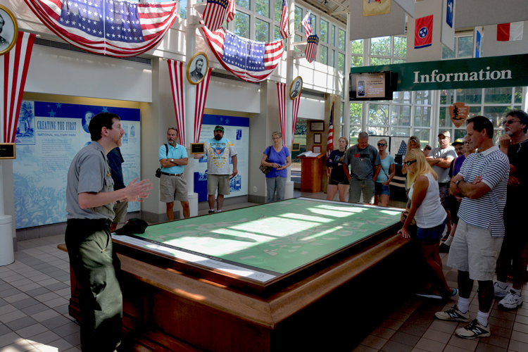 Battlefield Overview at Chickamauga Visitor Center