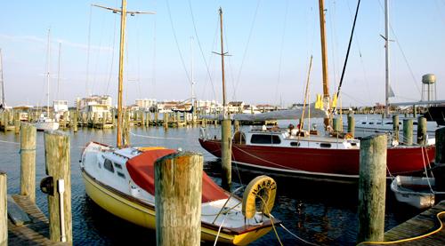 OR-Crisfield sailboats at daybreak