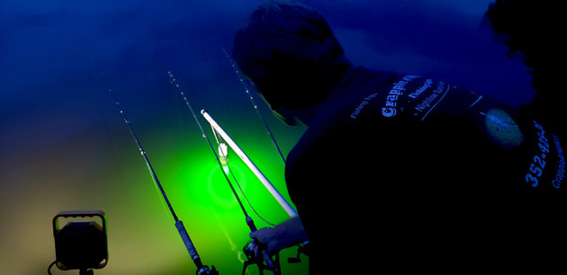 Hot Slabs in the Summertime - Fishing for Crappie on Florida's St. John's River at Night