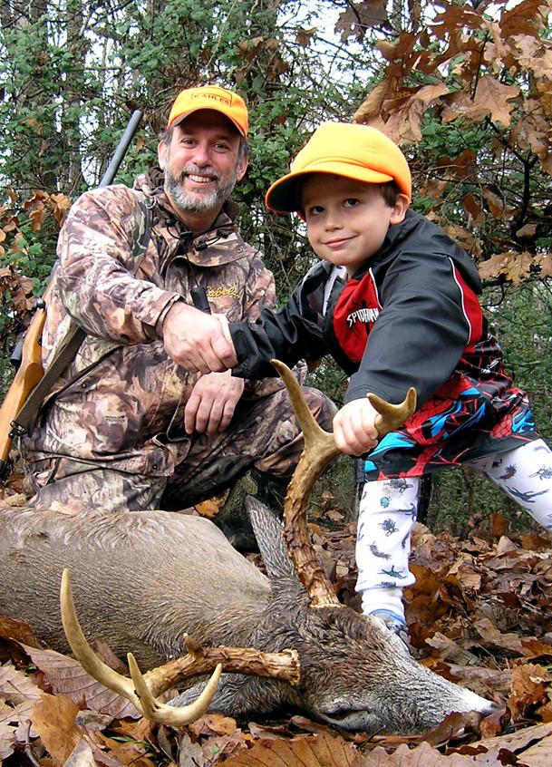 Young buck Kenny congratulates old buck