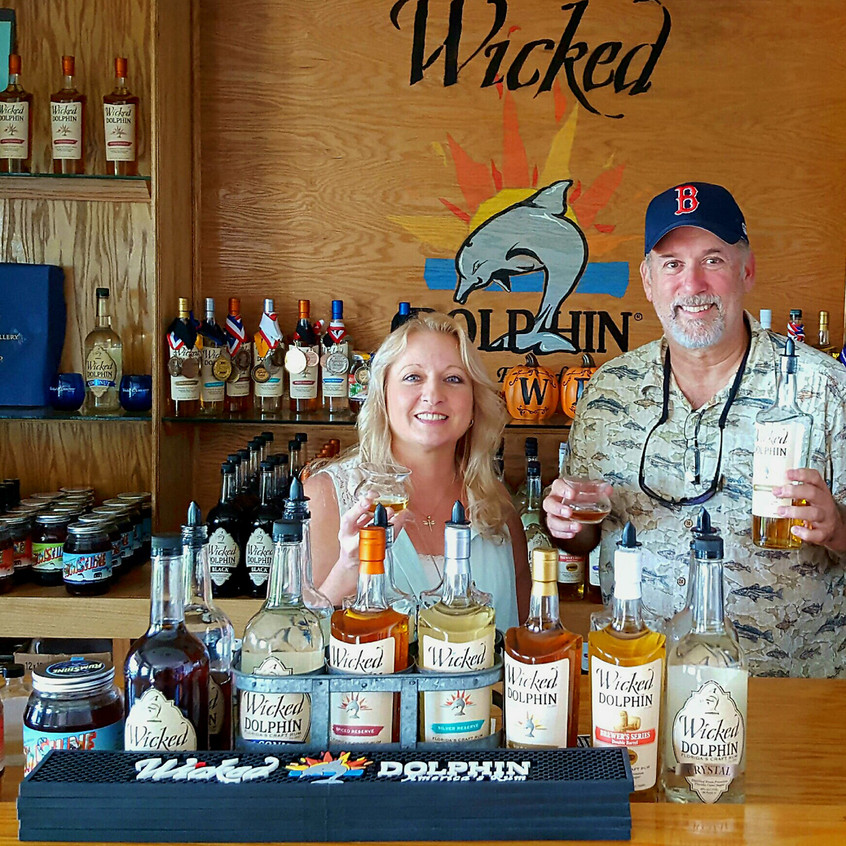 Island Hopper - Ken and Christin Hein - Wicked Dolphin Distillery