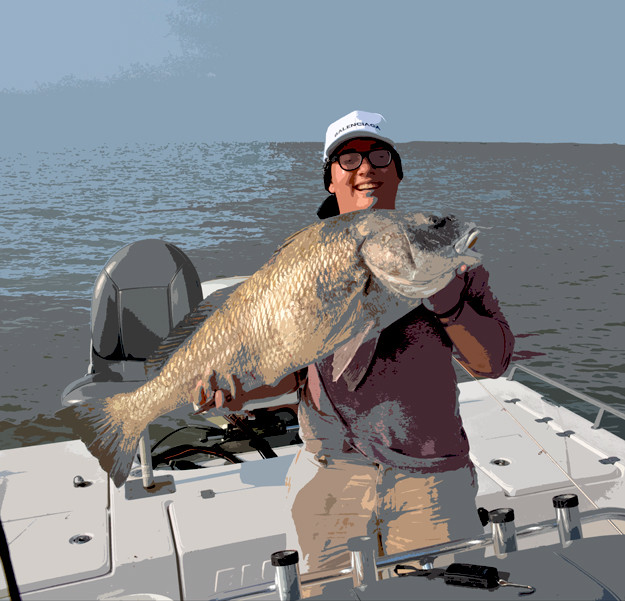 Lousiana drum fishing