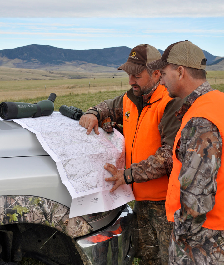 Montana - Chad Schearer and Dan Hanus discuss options using a MyTopo map of the area