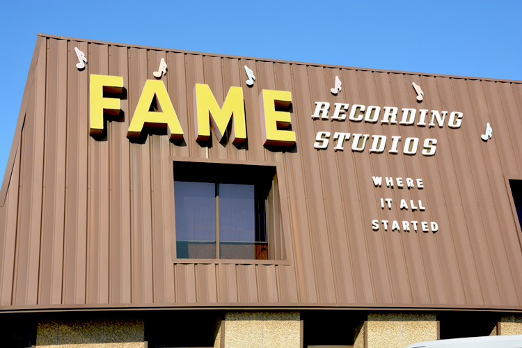 FAME Studios - Hits Galore from this nondescript little building