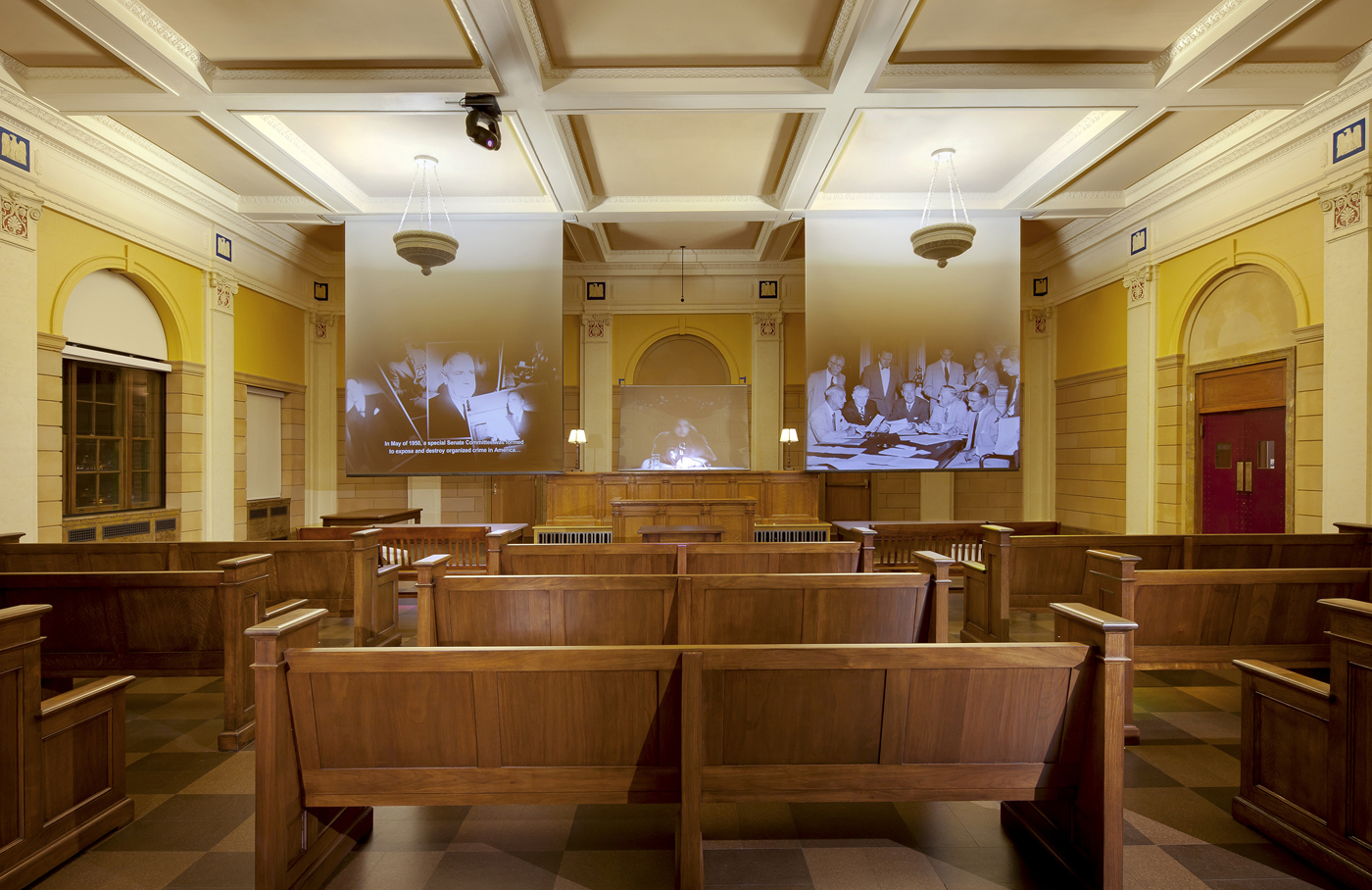 Mob Museum courtroom