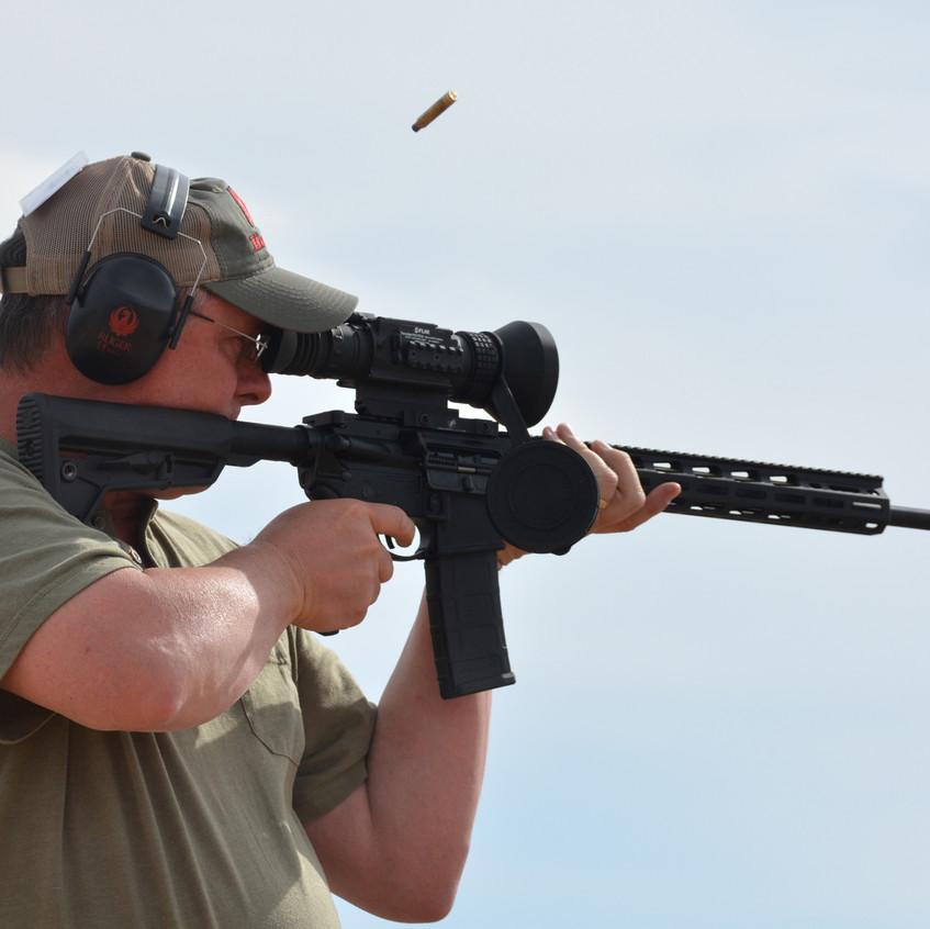 Shooting Ruger AR-556 MPR with FLIR sights - Ken Perrotte photo