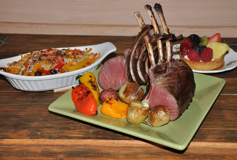wild game cooking and recipes Roasted Rack of Venison